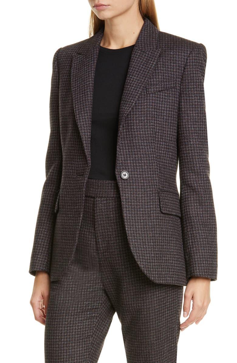 EQUIPMENT Burelle Suit Jacket, Main, color, TRUE BLACK MULTI