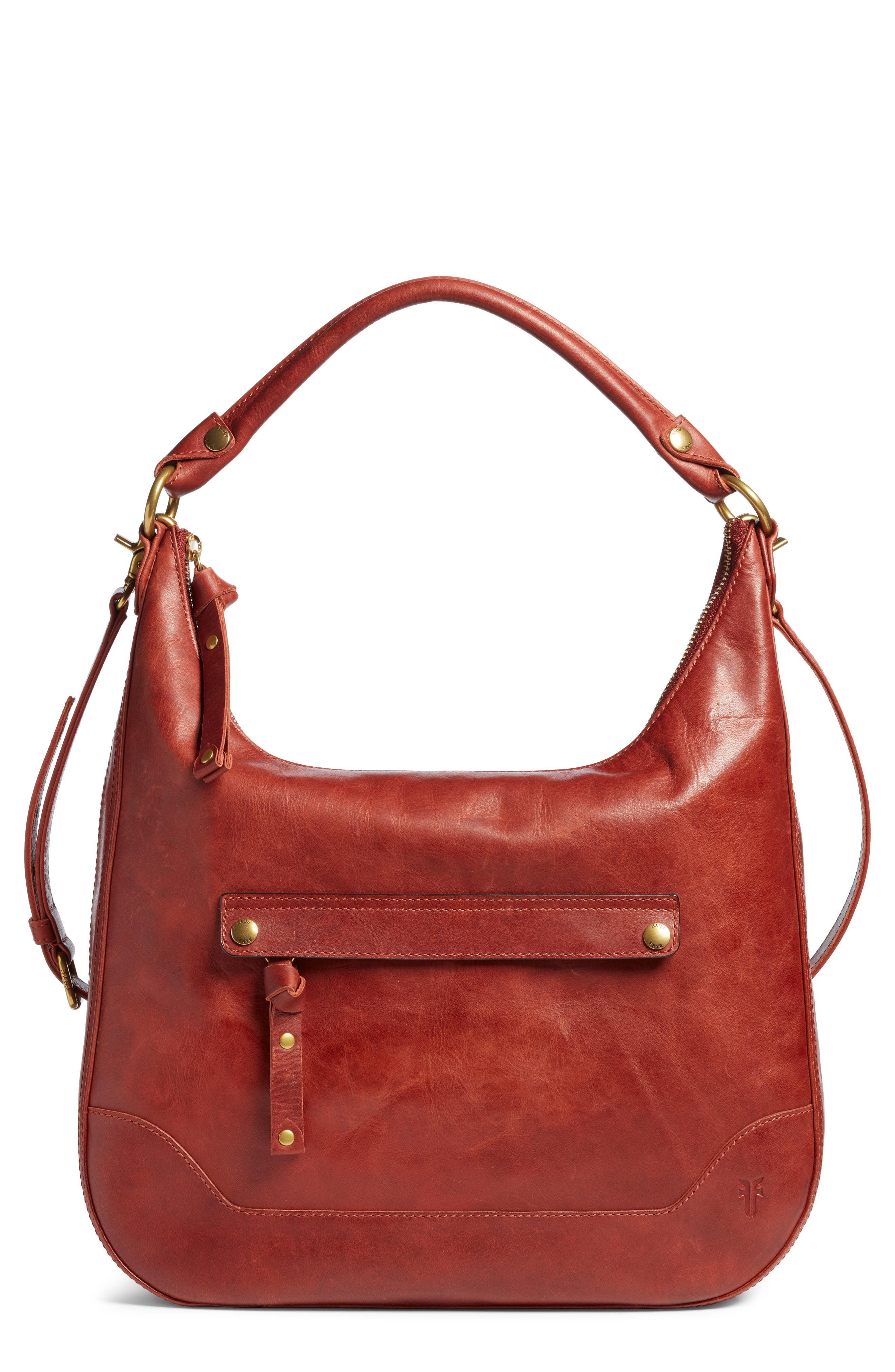 ,                             Melissa Large Leather Hobo,                             Main thumbnail 1, color,                             600