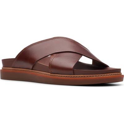 Clarks Trace Cross Sandal- Brown