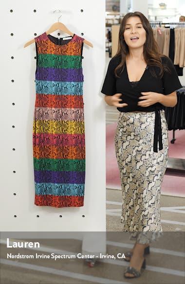 Delora Rainbow Snake Print Dress, sales video thumbnail