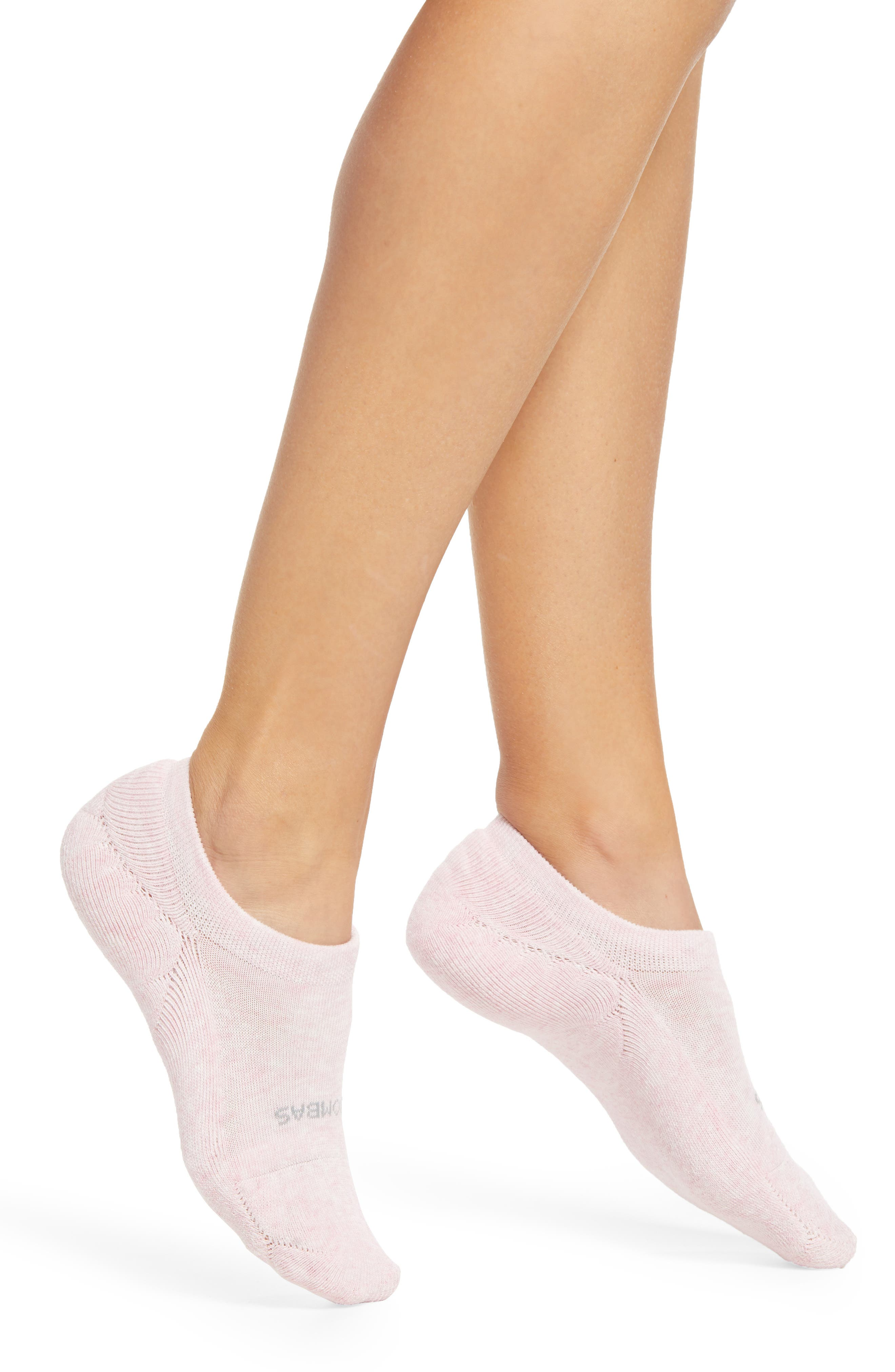 Heathered No-Show Socks