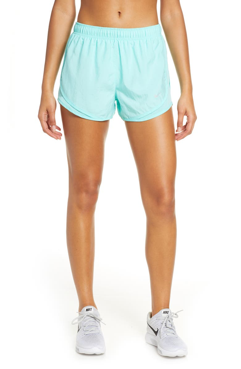 NIKE Dry Tempo Running Shorts, Main, color, TROPICAL TWIST/ WOLF GREY