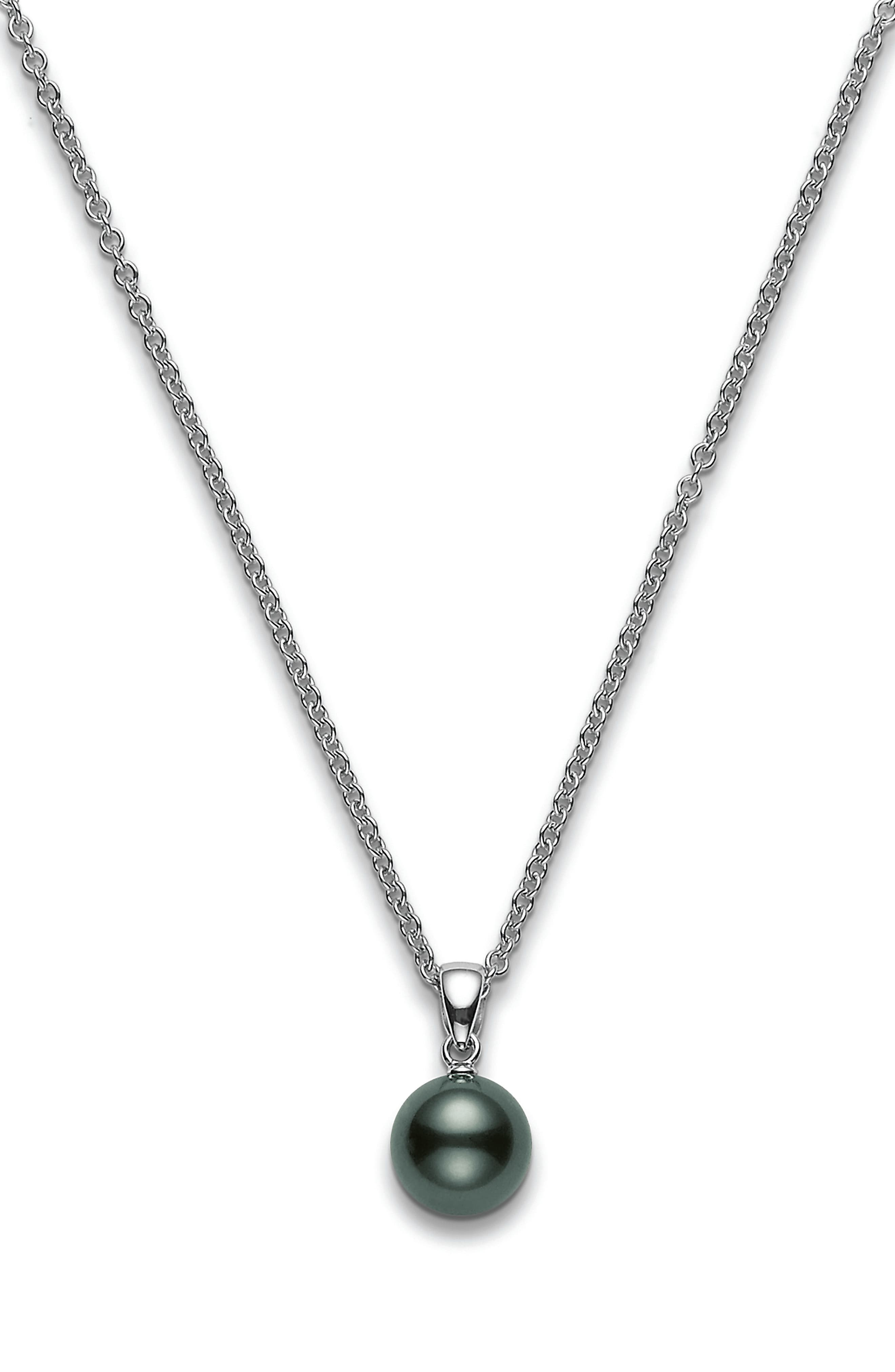 Black South Sea Pearl Pendant Necklace