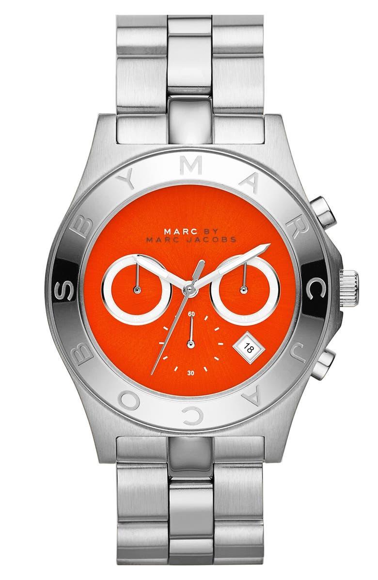 MARC JACOBS 'Blade' Chronograph Bracelet Watch, 40mm, Main, color, 040