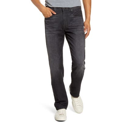Fidelity Denim Jimmy Slim Straight Leg Jeans, Black