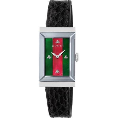 Gucci G-Frame Genuine Python Strap Watch, 21Mm Mm