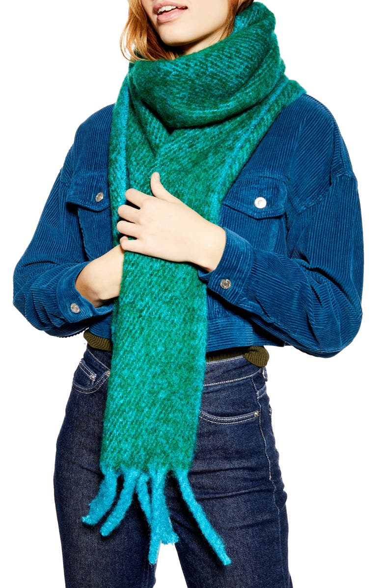 TOPSHOP Two Tone Heavy Scarf, Main, color, 300