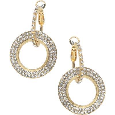Ettika Crystal Hoop Earrings
