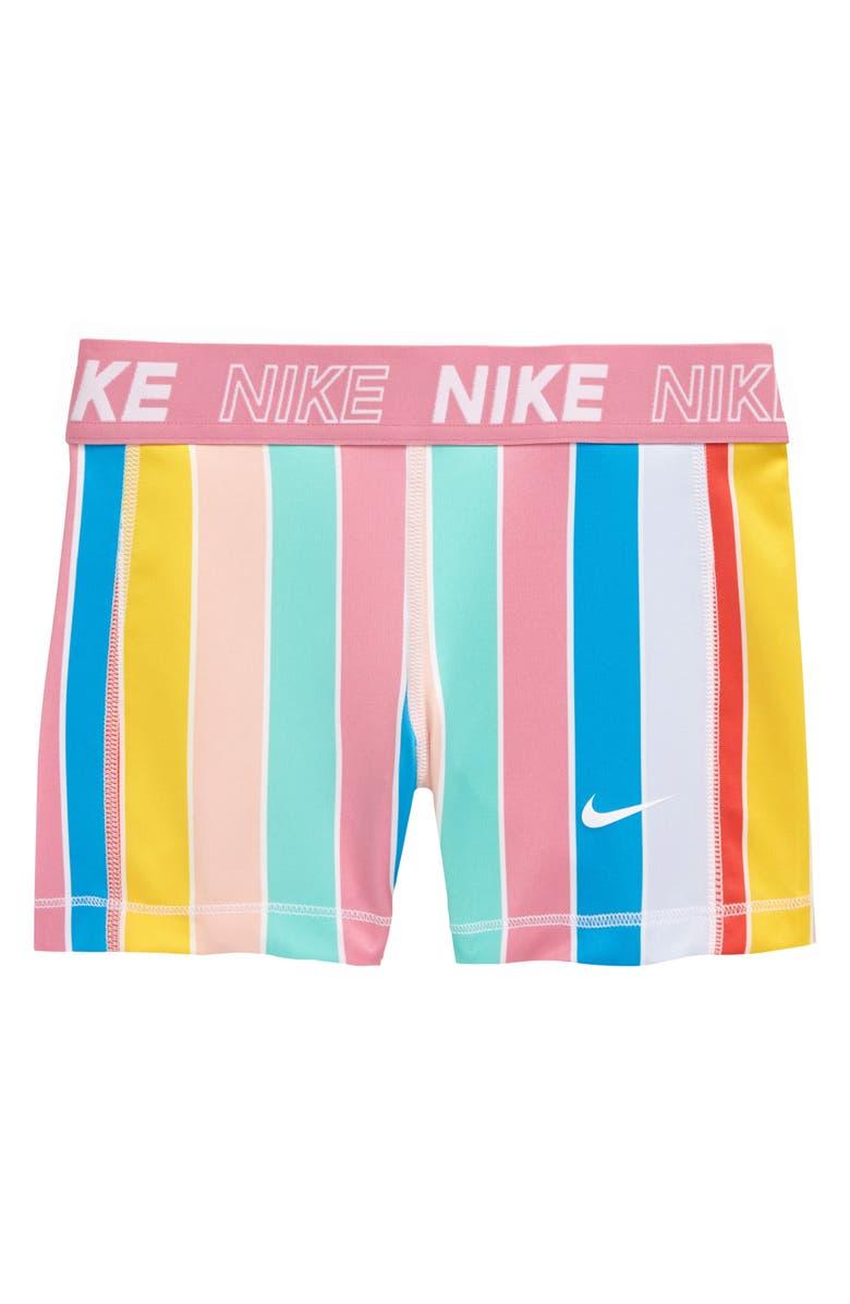 NIKE Pro Stripe Dri-FIT Boyshorts, Main, color, 100