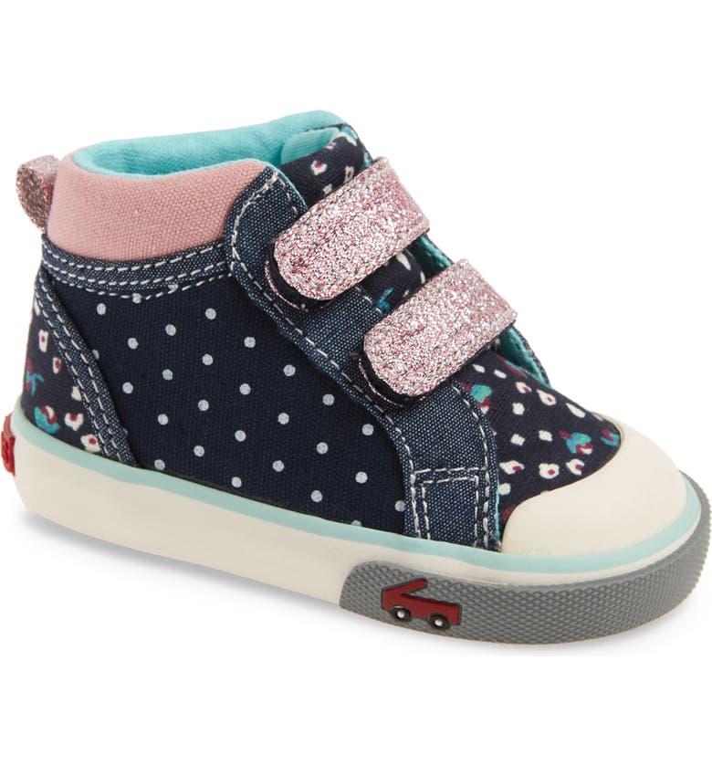 SEE KAI RUN Kya Sneaker, Main, color, NAVY DOT MIX