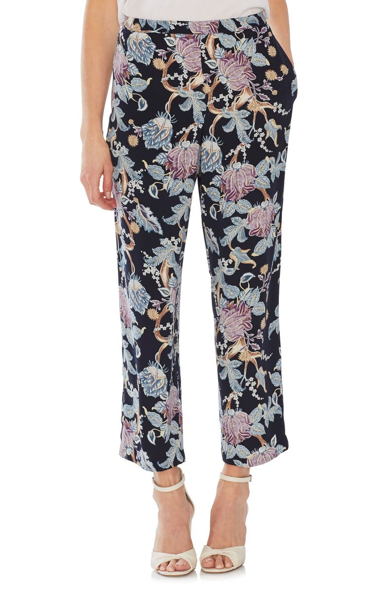 VINCE CAMUTO Poetic Blooms Crop Pants, Main, color, 407
