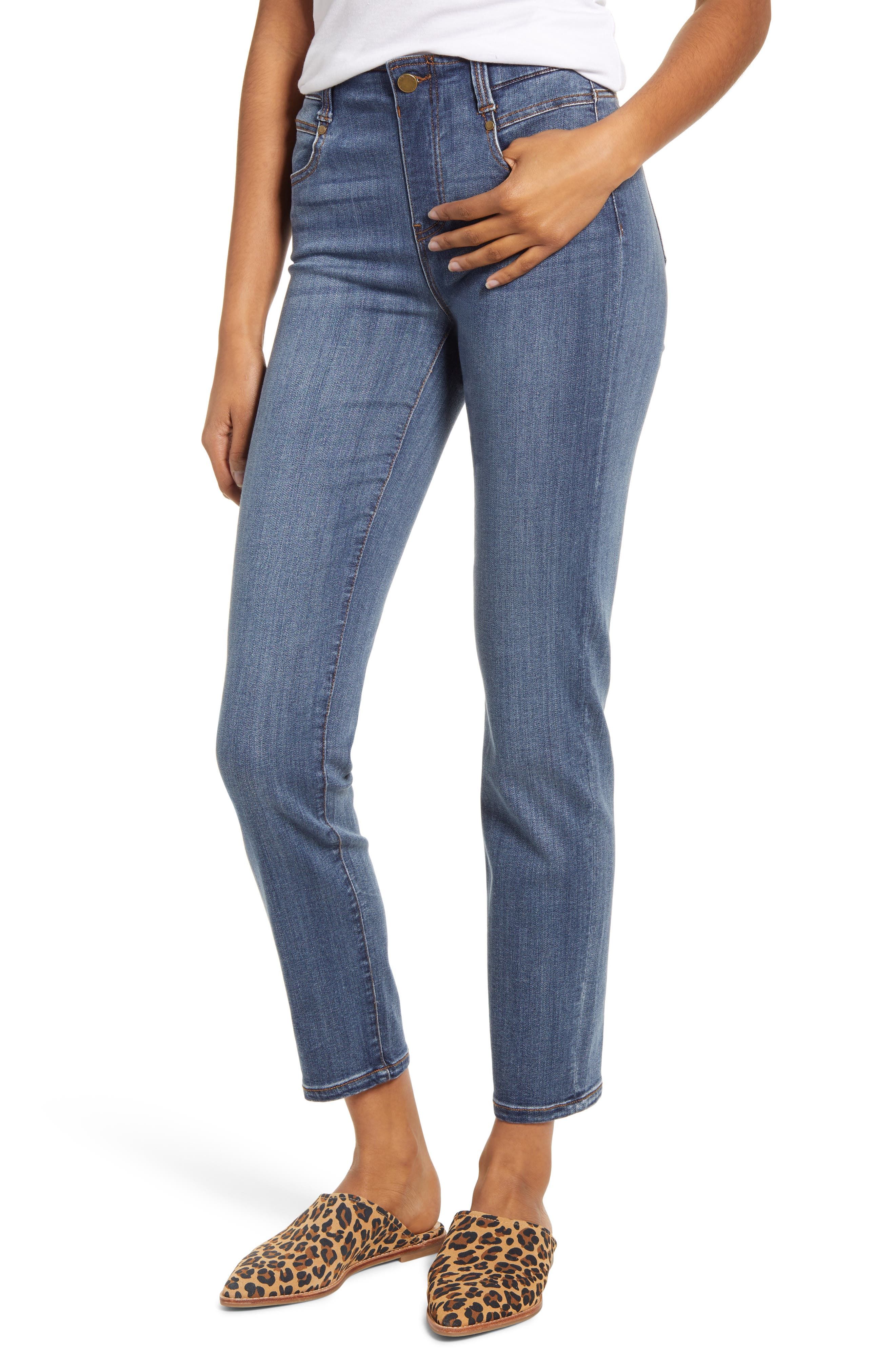 Gia Glider Slim Pull-On Jeans