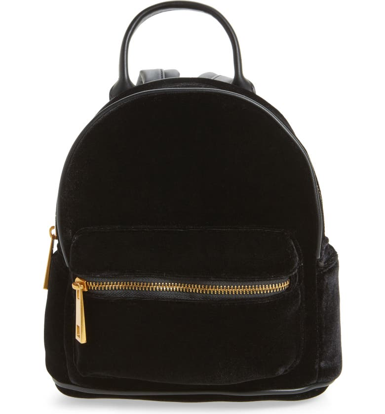 STREET LEVEL Velvet Backpack, Main, color, 001