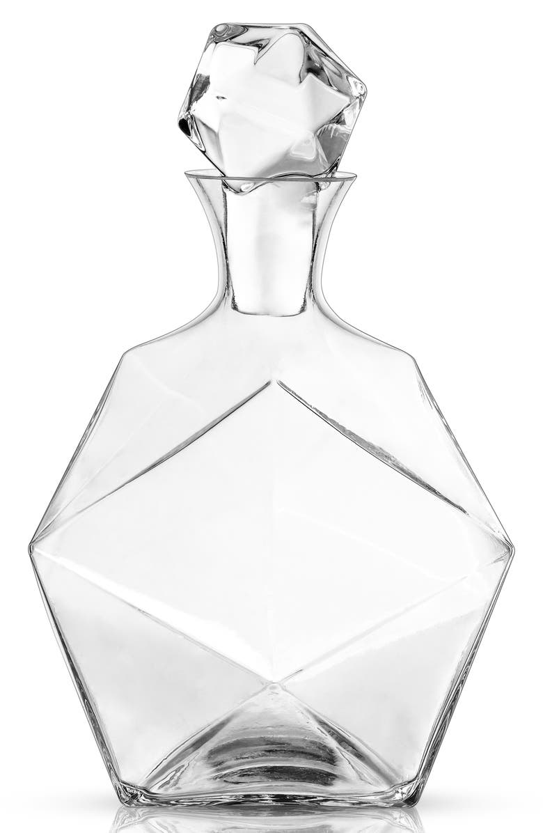 VISKI Raye Faceted Lead Crystal Decanter, Main, color, 100