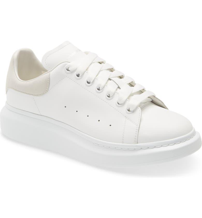 ALEXANDER MCQUEEN Oversize Low Top Sneaker, Main, color, WHITE/ WHITE/ WHITE