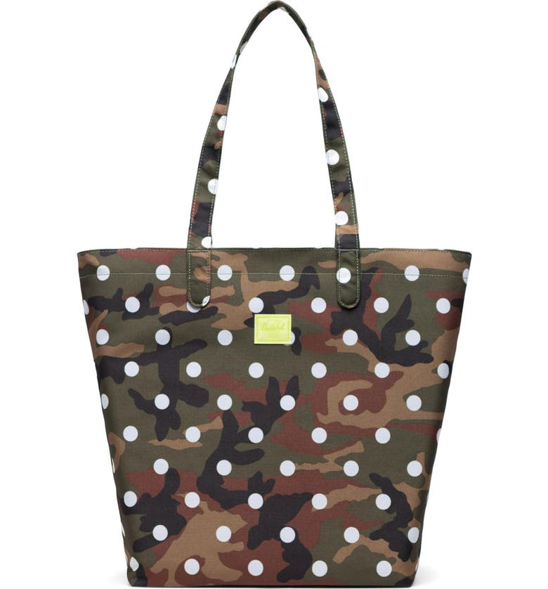 HERSCHEL SUPPLY CO. Mica Tote, Main, color, WOODLAND CAMO WHITE DOT
