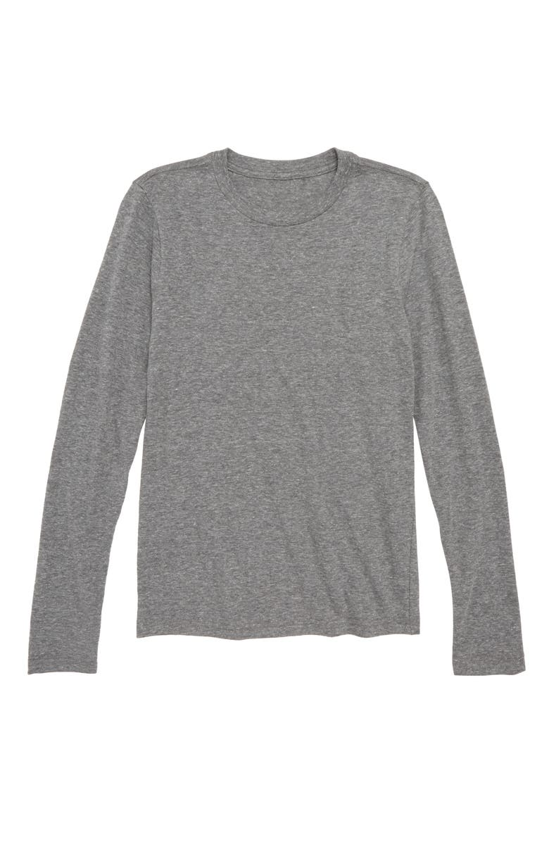 TUCKER + TATE Long Sleeve T-Shirt, Main, color, GREY MEDIUM HEATHER