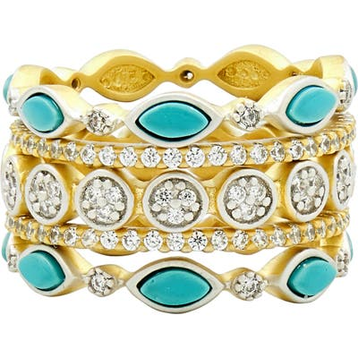 Freida Rothman Fleur Bloom Set Of 5 Stackable Rings
