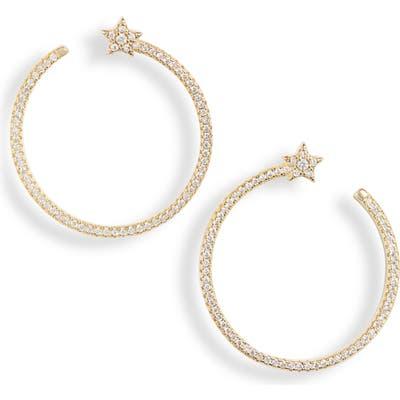 Bracha Shooting Star Hoop Earrings