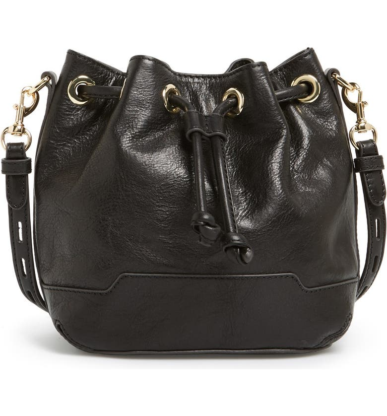 REBECCA MINKOFF 'Mini Fiona' Bucket Bag, Main, color, 001