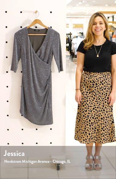 Glitter Wrap Style Sheath Dress, sales video thumbnail