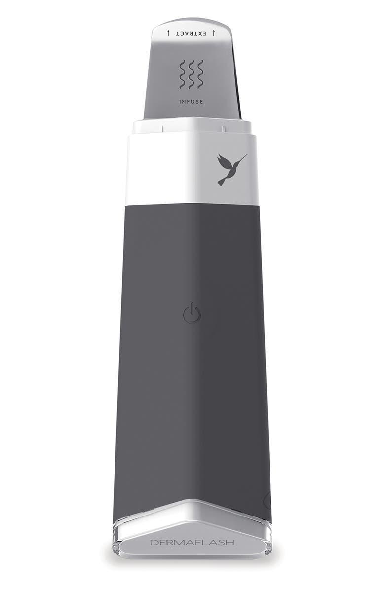 DERMAFLASH DERMAPORE Ultrasonic Pore Extractor & Serum Infuser, Main, color, CHARCOAL