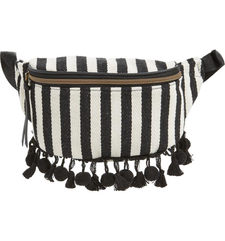 Stripe Tassel Belt Bag by T Shirt & Jeans