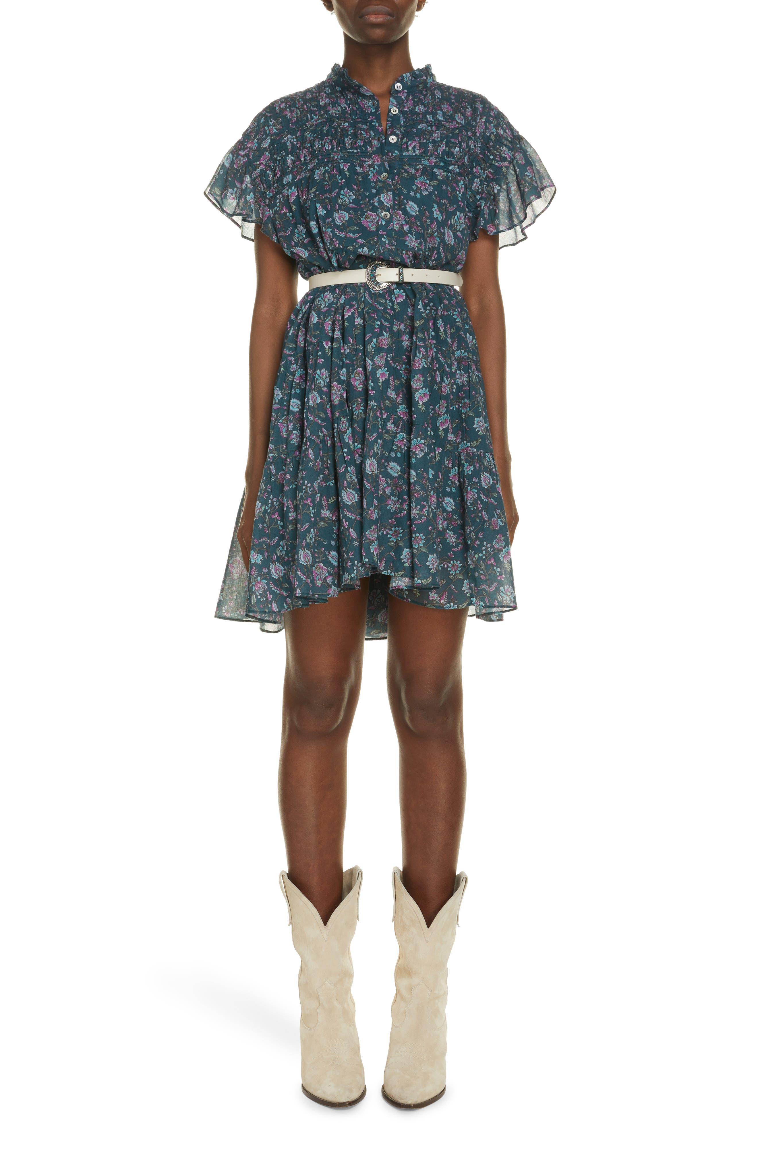 Women's Isabel Marant Etoile Lanikaye Floral Cotton Babydoll Dress
