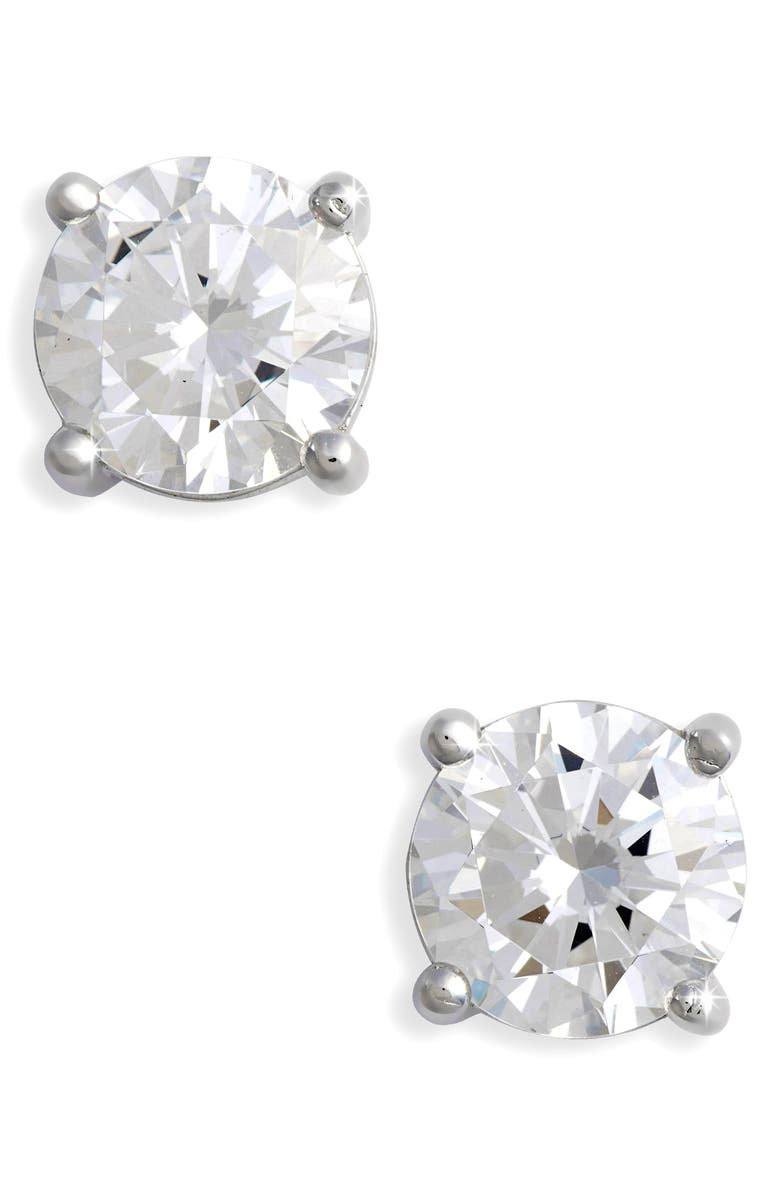 LAFONN Simulated Diamond Stud Earrings, Main, color, 100
