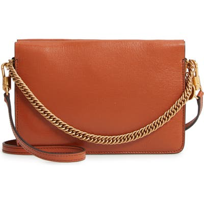 Givenchy Cross 3 Leather Crossbody Bag - Brown