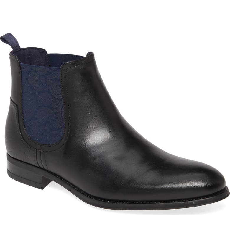 TED BAKER LONDON Tradd Chelsea Boot, Main, color, BLACK
