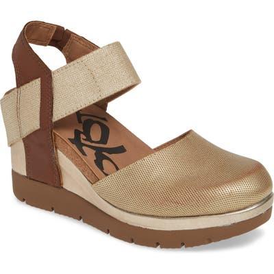 Otbt Carry On Wedge Sandal, Metallic