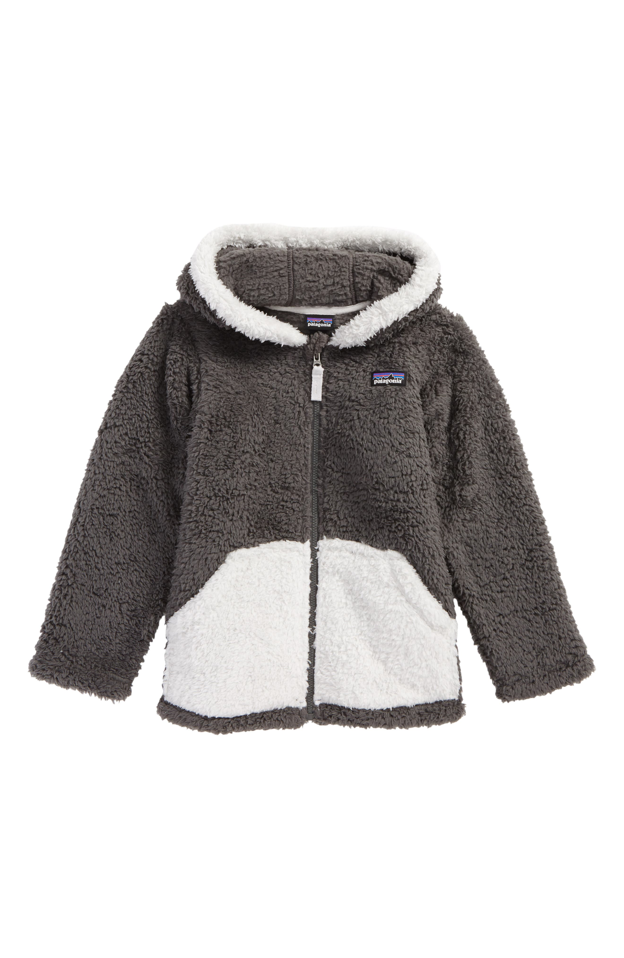 Toddler Boys Patagonia Furry Friends Zip Hoodie Size 5T  Grey