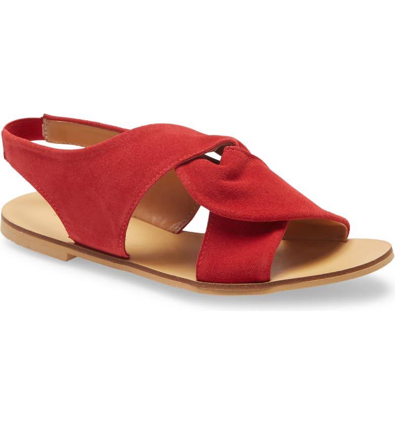 KLUB NICO Jainne Twist Sandal, Main, color, RED SUEDE