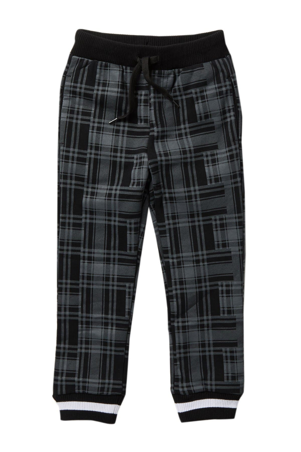 Image of Petit Lem Plaid Knit Joggers