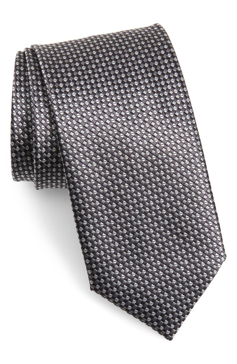 CANALI Geometric Silk Tie, Main, color, 001