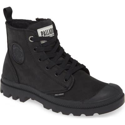 Palladium Pampa Zip Bootie, Black