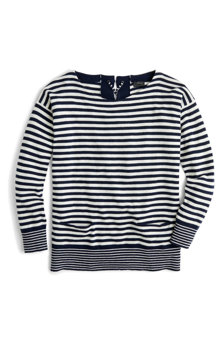 0ebe79c6971 J.Crew Tie-Back Cashmere Pullover Sweater | Nordstrom