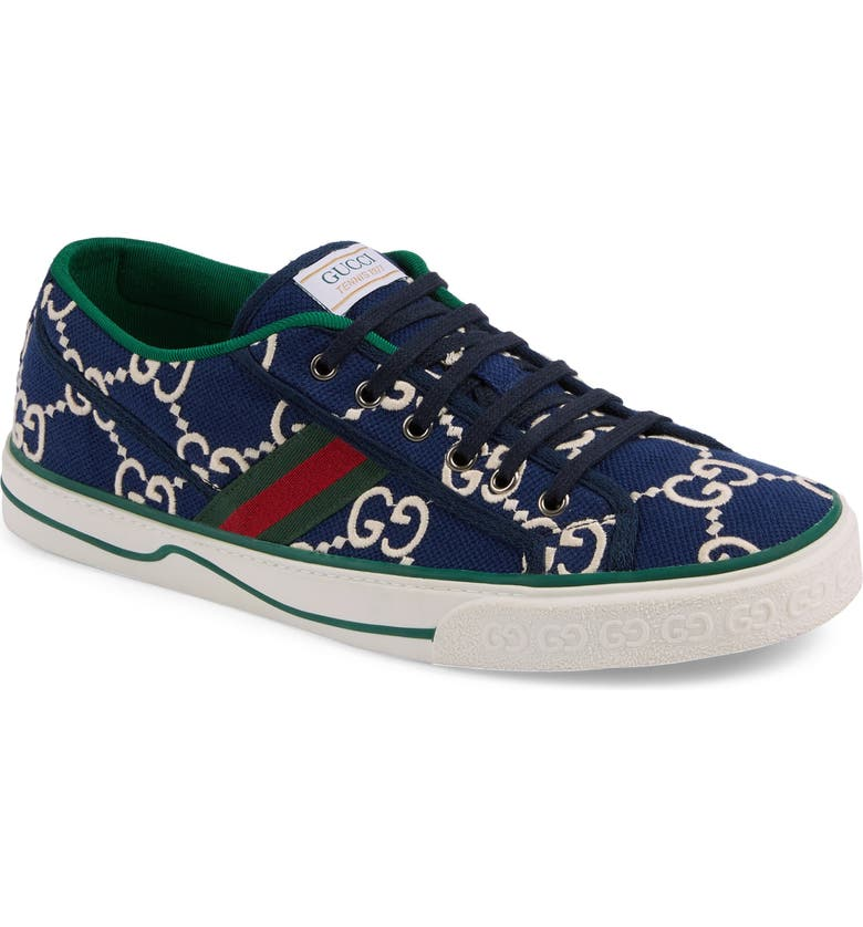 GUCCI Tennis 1977 Embroidered Logo Sneaker, Main, color, INK MULTI