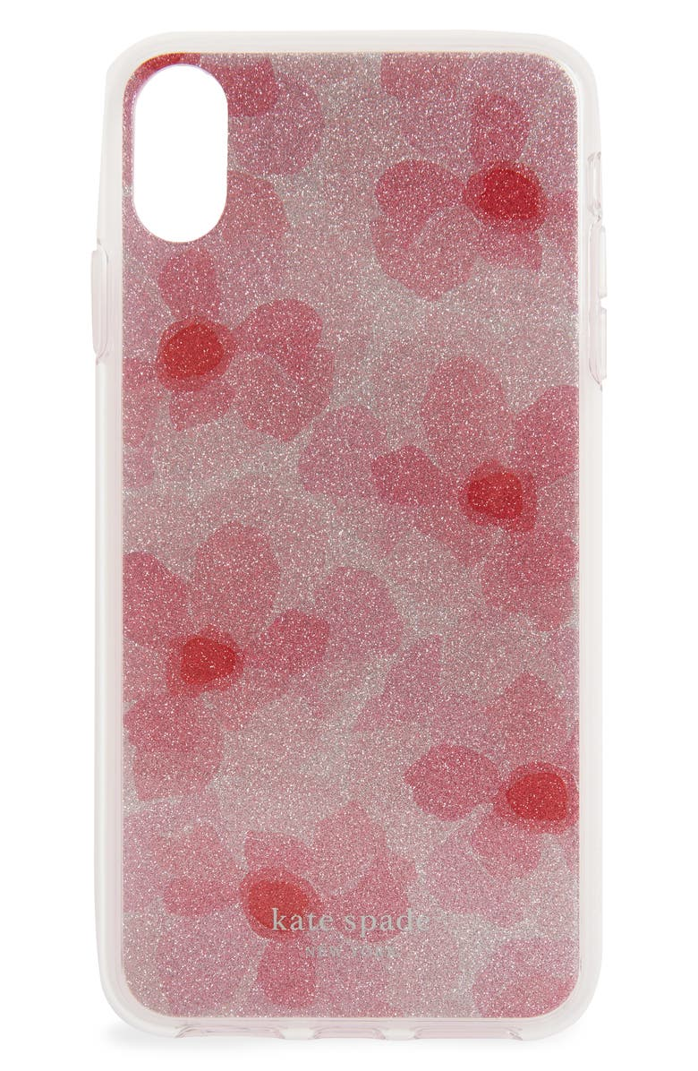 KATE SPADE NEW YORK glitter abstract iPhone X/Xs/Xs Max & XR case, Main, color, 650