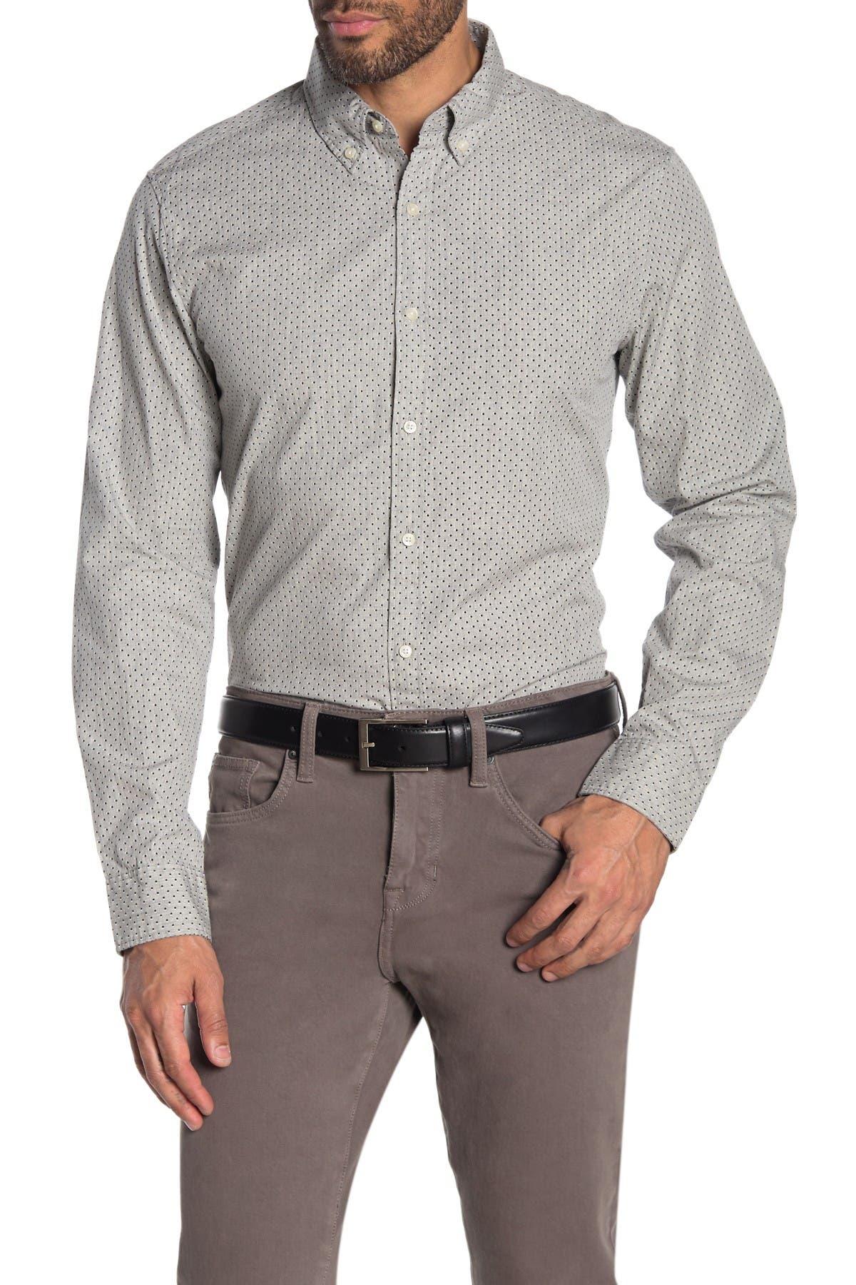 Image of Michael Kors Dot Print Slim Fit Shirt