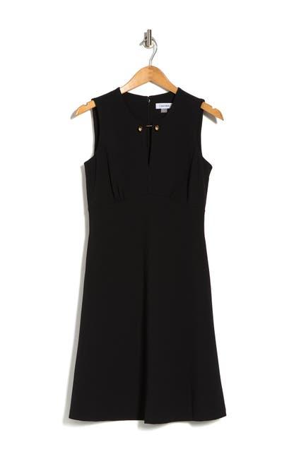 Image of Calvin Klein Sleeveless A-Line Dress