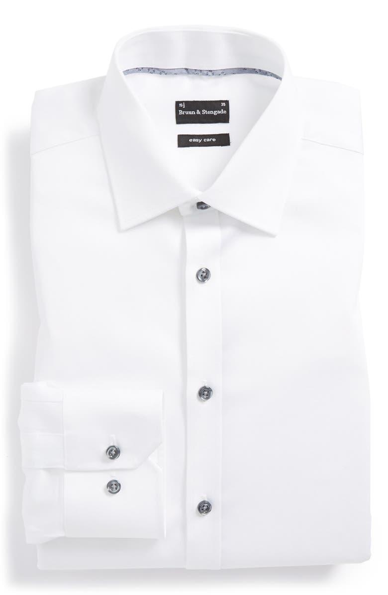99f5d3f76e1 Bruun & Stengade Trim Fit Easy Care Dress Shirt | Nordstrom