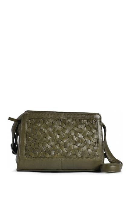 Image of Day & Mood Bailee Woven Leather Crossbody Bag