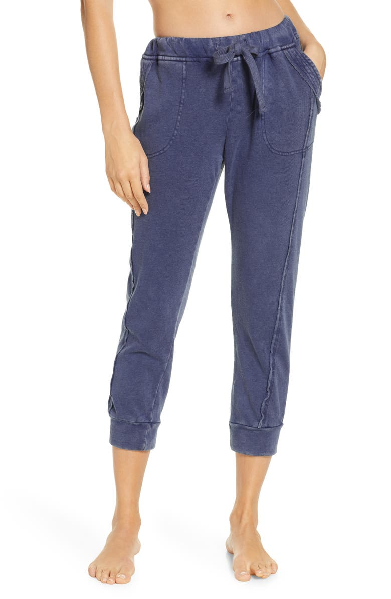 FREE PEOPLE FP MOVEMENT Work it Out Jogger Pants, Main, color, INDIGO BLUE