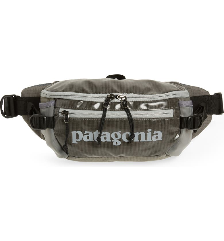PATAGONIA Black Hole Recycled Belt Bag, Main, color, HEX GREY