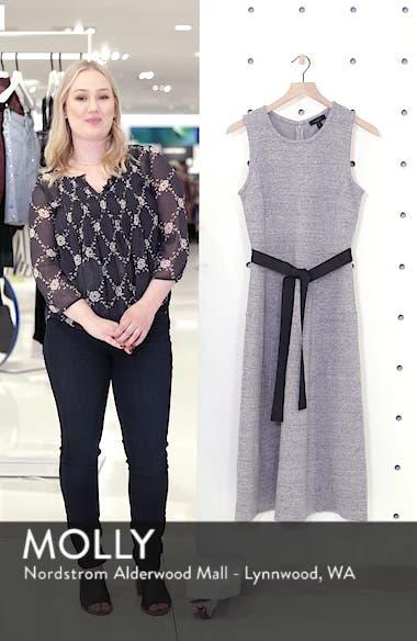 Velvet Tie A-Line Dress, sales video thumbnail
