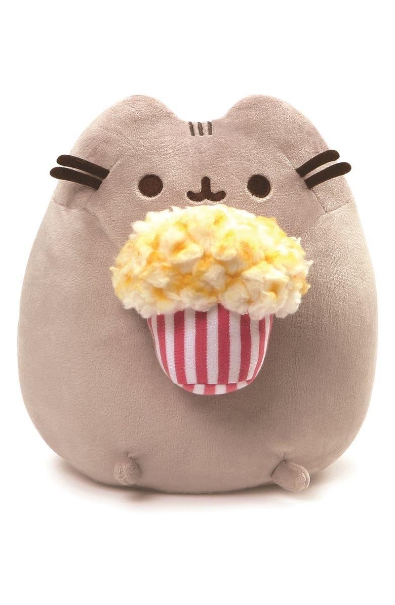 GUND Pusheen Popcorn Stuffed Animal, Main, color, 020