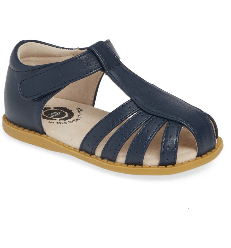LIVIE & LUCA Paz Fisherman Sandal, Main, color, NAVY