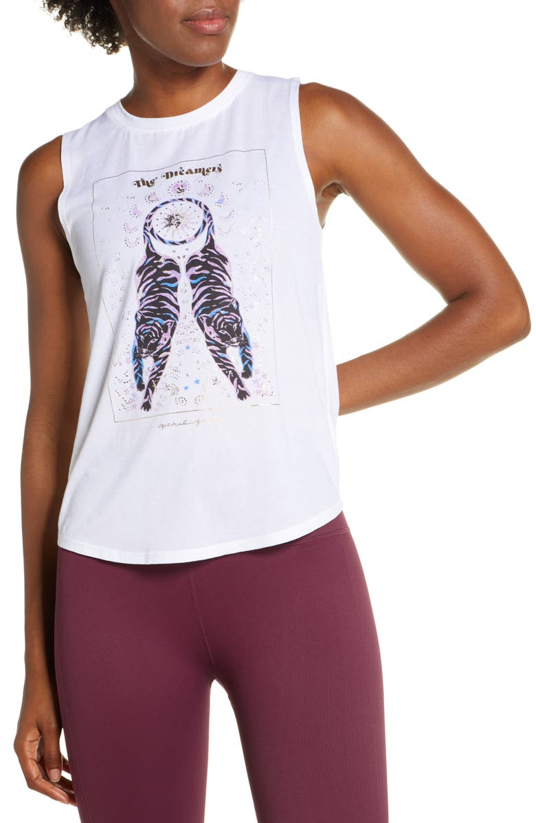 SPIRITUAL GANGSTER Dreamers Graphic Muscle Tank, Main, color, WHITE